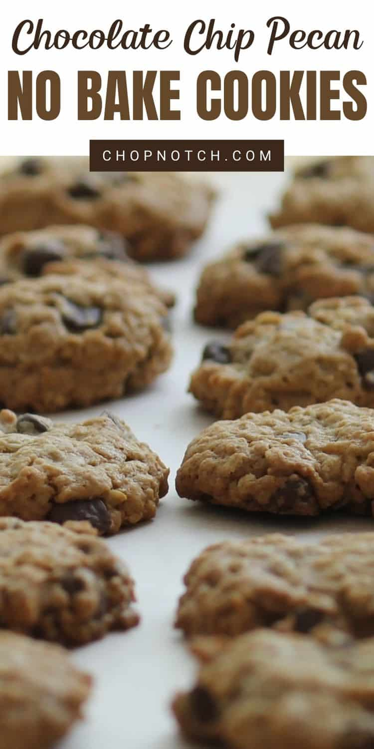 Several cookies on a baking sheet.