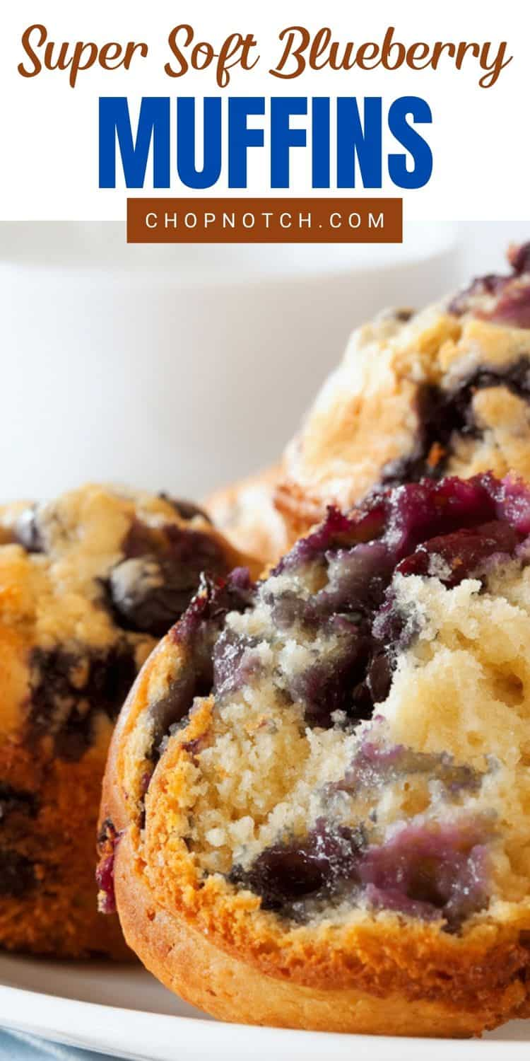 A close up of blueberry muffins.